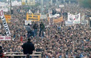 Demonstration in Alexander Platz, Berlin, 4 November 1989