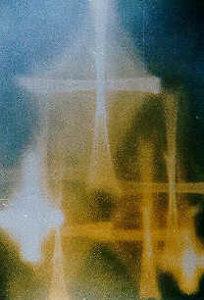 Multiple crosses of light in window
