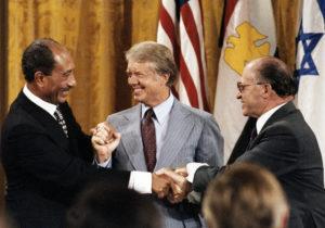 Anwar Sadat, Jimmy Carter and Menachem Begin